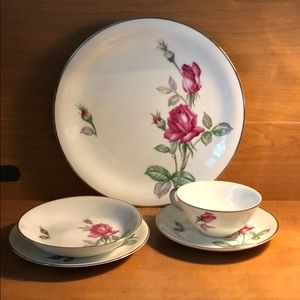 Vintage Dining - Vintage 5 pc Place Setting Kutani Rose Pat…